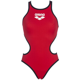 arena One Biglogo One Piece Swimsuit Dames, red/black